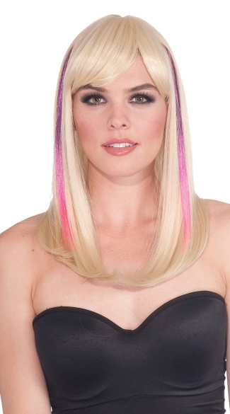 Two Tone Hair Extension, Pink and Purple Hair Extension, Punk Hair Extension