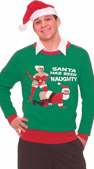 Plus Size Naughty Santa Sweater
