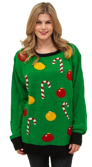 Plus Size Tis the Season Sweater