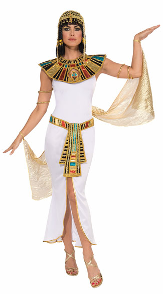 Goddess Cleopatra Costume, Sexy Cleopatra Costume, White Cleopatra Costume