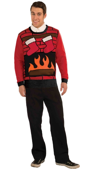 Fireplace Ugly Christmas Sweater, Christmas Eve Sweater