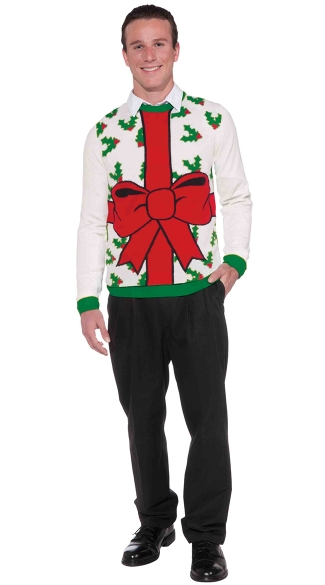 All Wrapped Up Christmas Sweater, Wrapping Paper Christmas Sweater