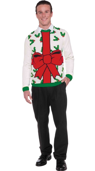 Plus Size All Wrapped Up Christmas Sweater