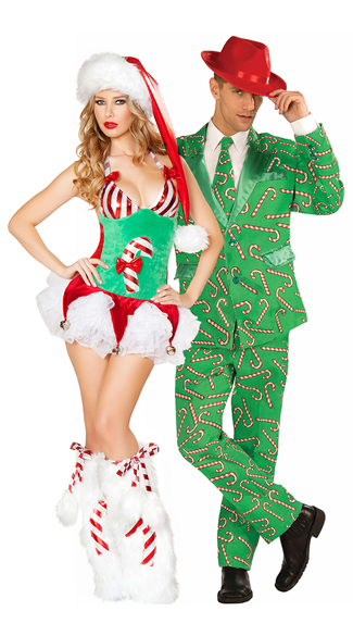 Mr. Candy Cane Suit, Mr. Christmas Suit, Candy Cane Suit, Candy Cane Romper, Green Plush Christmas Romper, Candy Cane Print Costume