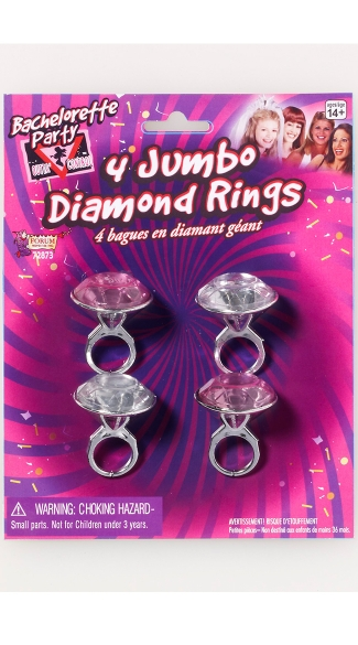 Bachelorette Party Jumbo Diamond Rings