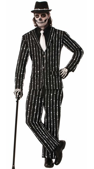 Plus Size Men\'s Tuxedo Skeleton Costume