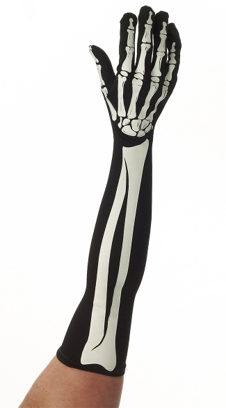 Bony Long Gloves, Ladies Gloves, Skeleton of the Hand