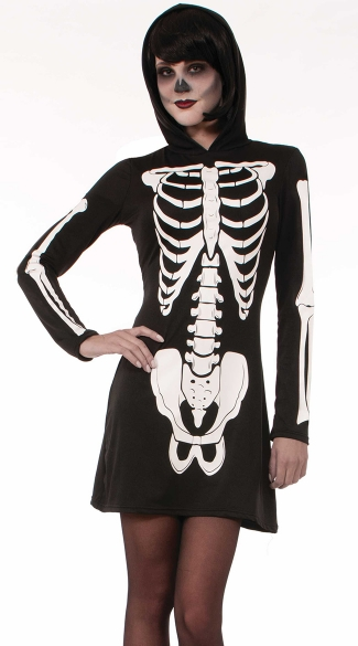 Hooded Skeleton Costume