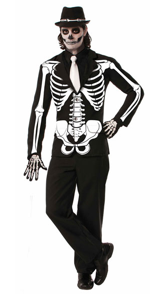 Men\'s All Bones Jacket, Mens Halloween Costume, Last Minute Cheap Halloween Costumes