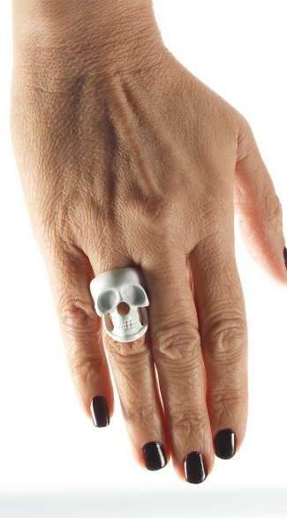 White Skull Ring, Skull Jewelry For Women, Cheap Costume Jewelry