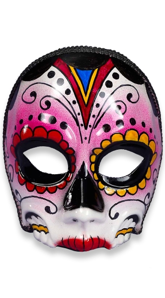 Day of the Dead Senorita Face Mask, Day of the Dead Makeup Ideas, Day of the Dead Skull Designs