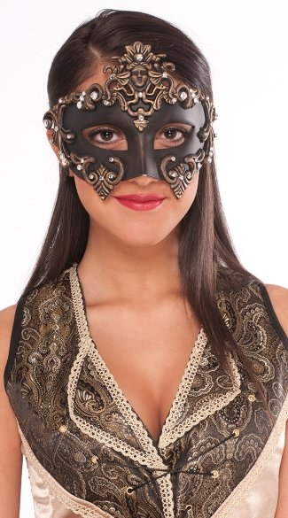 Fantasy Warrior Goddess Mask, Costume Masks, Plastic Face Mask