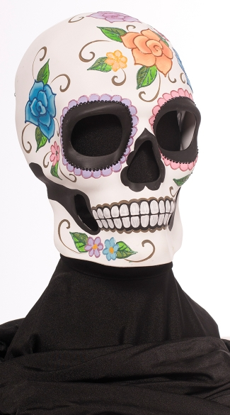 Men\'s Day of the Dead Floral Skull Mask