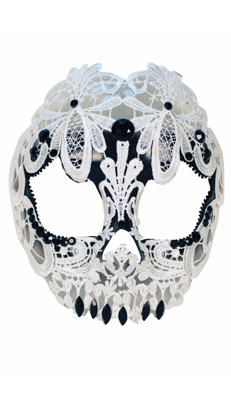 White Lace Skull Mask