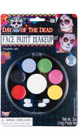 Day Of The Dead Face Paint Kit, Halloween Face Paint, Face Paint for Day of the Day