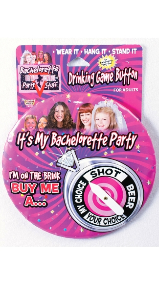Jumbo Bachelorette Party Button, Bachelorette Button
