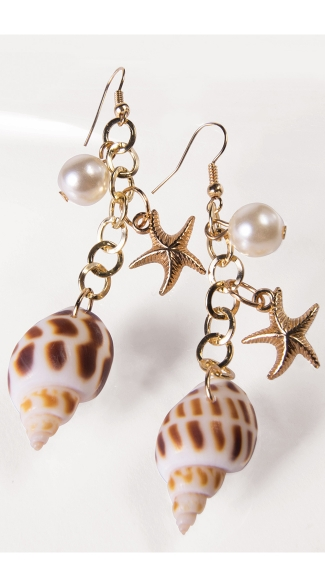 Mermaid Sea Shell Earrings