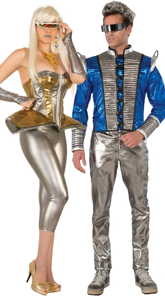 Molten Metal Silver and Gold Corset