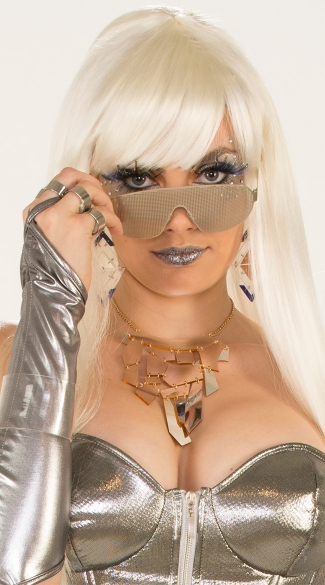 Metallic Mesh Eye Glasses