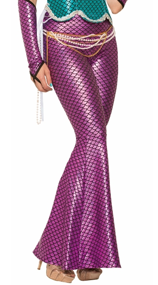 Pink Mermaid Fish Scale Leggings, Mermaid Pant Costume, Mermaid Tail Halloween Costume