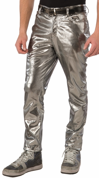 Men\'s Silver Pants, Men\'s Pants, Men\'s Costume Accessories