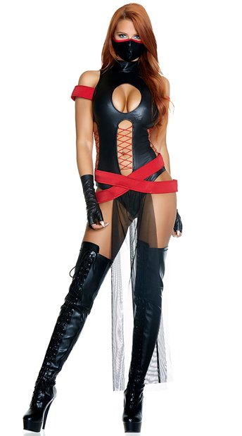 Slay All Day Costume, Fetish Fighter Costume - Yandy.com