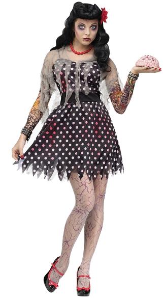 rockabilly zombie adult costume punk zombie costume cute