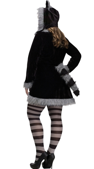 Plus Size Sexy Raccoon Costume