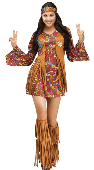 Flower Child Hippie Costume Hippy Costume Peace And Love