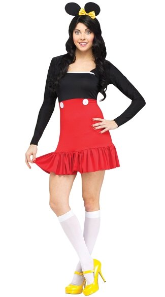 Miss Mouse Adult Costume, Sexy Mouse Costume, Adult Mouse Halloween Costume