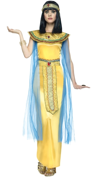 Golden Cleopatra Adult Costume, Pharaohs Gem Costume, Egyptian Costume
