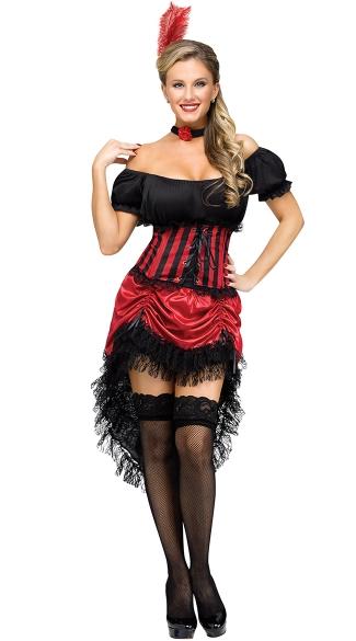 Gal Costume, Red Saloon Girl Costume, Western Saloon Costume