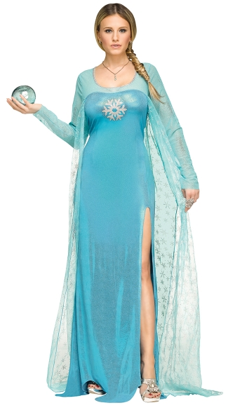Ice Queen Costume, Adult Elsa Costume, Adult Ice Princess Costume