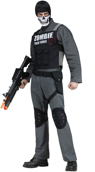 Men\'s Zombie Task Force Costume