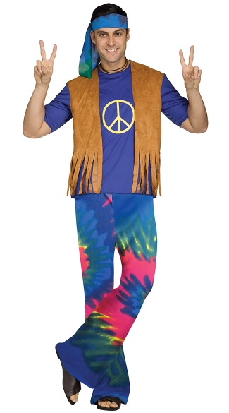 Men\'s Groovy Guy Costume, Men\'s 60s Costume, Men\'s 70s Costume