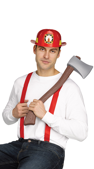 Firefighter Character Kit, Firefighter Costume Kit, Fireman Costume Kit