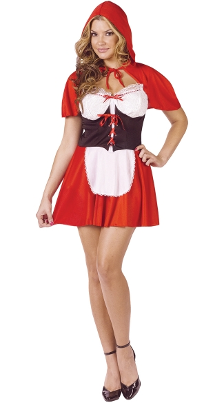 Red Hot Riding Hood Adult Costume, Short Little Red Riding Hood Costume, Adult Little Red Riding Hood Halloween Costume
