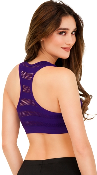 Underwire Sports Bra with Honeycomb Racer Back