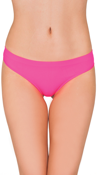 Seamless Smooth Thong, No Panty Lines Thong, Spandex Thong