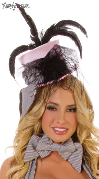 Fancy Pink Cigarette Girl Hat, Pink Fancy Top Hat