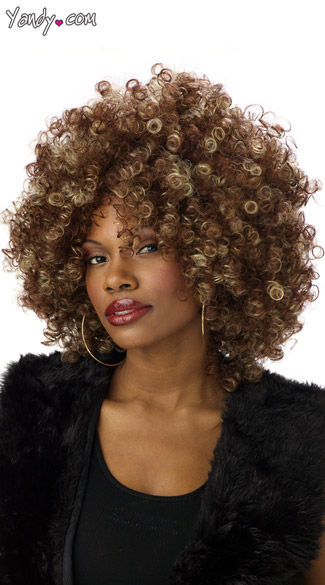 Fine Foxy Fro Wig, Foxy Brown Costume Wig