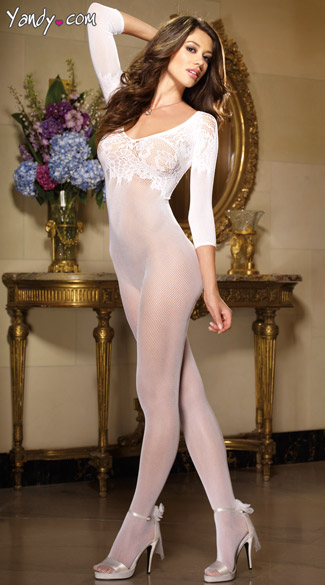Fishnet Bodystocking with Sleeves
