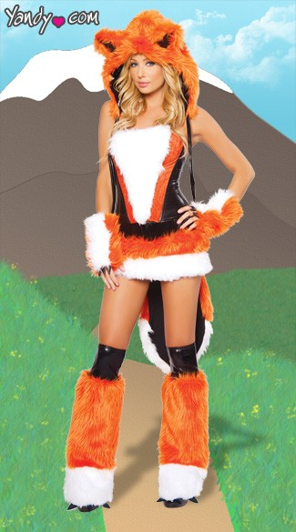 Sexy Fox Costume, What Does the Fox Say Costume, Sexy Furry Fox Costume