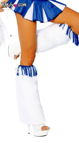 Fringe Top Leg Warmers, Cheerleader Costume Accessory, Halloween Costume Accessories