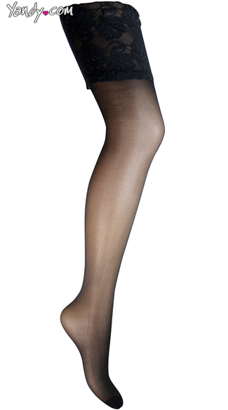 Plus Size Deluxe Black Thigh Highs with Lace