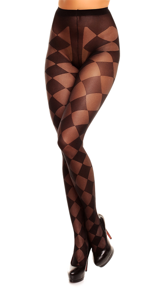 Plus Size Sheer Checkered Pantyhose, Plus Size Sheer Pantyhose, Black Sheer Plus Size Pantyhose