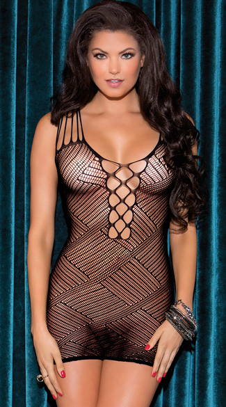 Diagonal Patterned Chemise