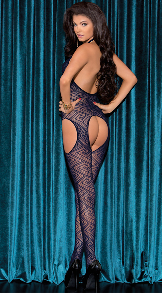 Diamond Halter Bodystocking