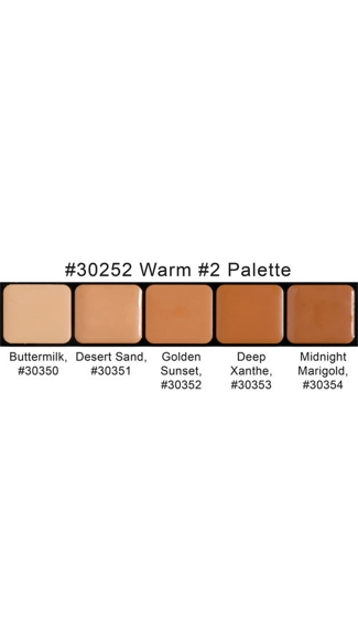 HD Glam Creme Palette Warm #2