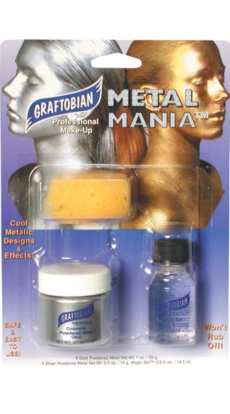 Silver Metal Mania Combo Pack, Silver Make Up Kit